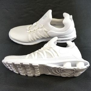 *NEW* Mens Nike Shox Gravity 10 White Low Sneakers